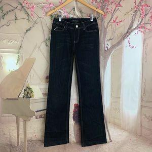 WHBM Blanc Dark Wash Bootcut Jeans